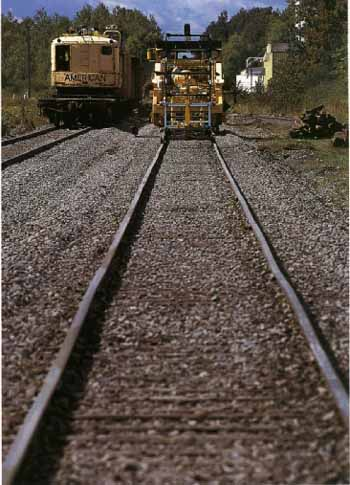 Maintenance of railway track